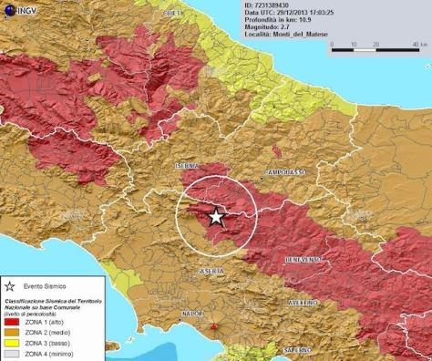 Terremoto Campania Molise 29 dicembre 2013